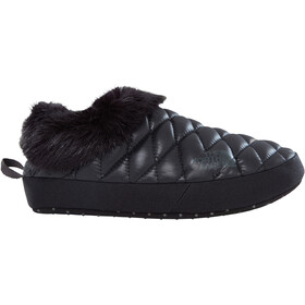 The North Face W's ThermoBall Tent Mule Faux Fur IV Shoes Shiny TNF Black/Beluga Grey